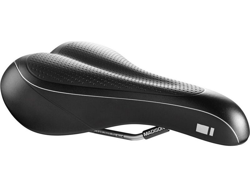 MADISON G200 Men's saddle, Dual-Density gel, black click to zoom image
